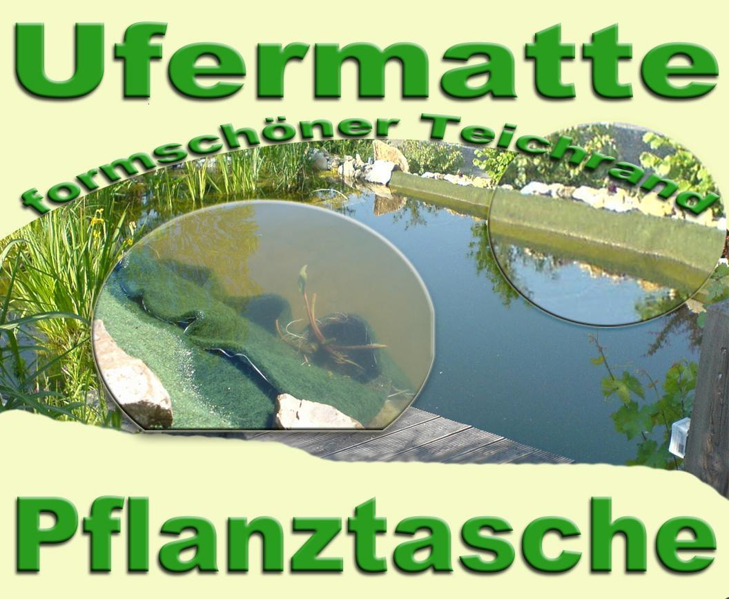 Pflanztasche-8T-Maxi-Ufermatte-f-Teichfolie-Garten-Teichpflanzen-Teichbau