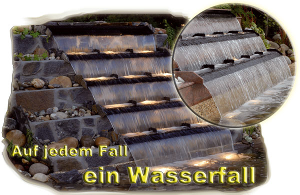 wasserfall bauen, wasserfall bauen-teichbau, baumaterial für den, Garten  seite