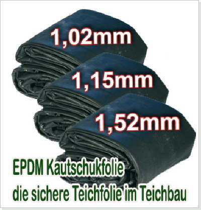 epdm kautschukfolie die teichfolie aus gummi. Black Bedroom Furniture Sets. Home Design Ideas