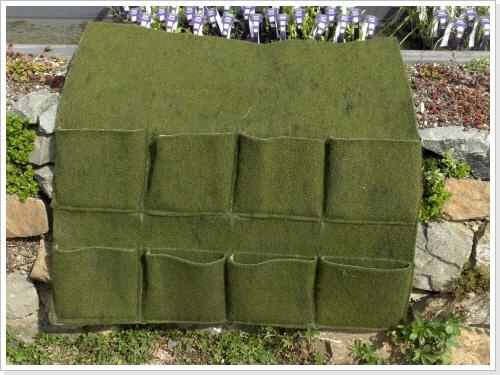 Pflanztasche mit 8 Taschen, 1 x 1 Meter